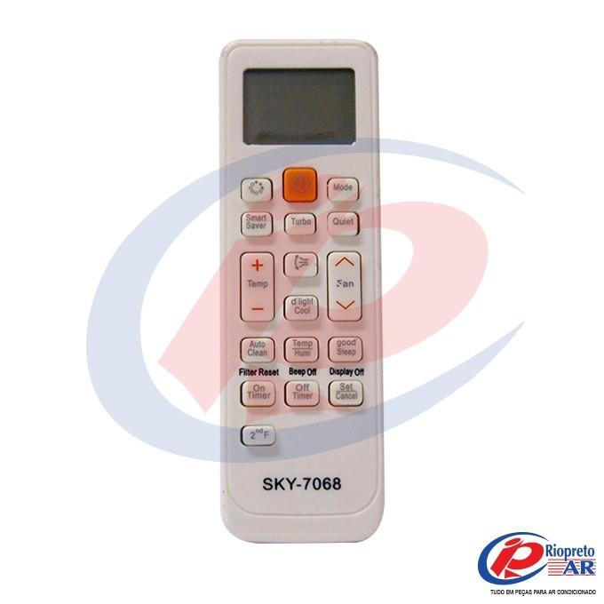 CONTROLE SAMSUNG UNIVERSAL SKY7068 AR-CONDICIONADO ARH-5026 DB63-02818A LE-7068  CONTROLE SAMSUNG UNIVERSAL SKY7068 AR-CONDICIONADO ARH-5026 DB63-02818A LE-7068